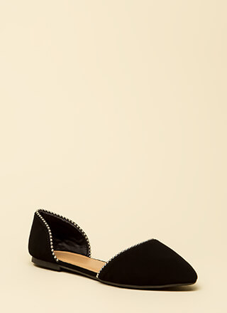 Slight Edge Studded Faux Nubuck Flats