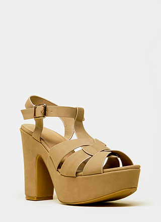 Feel The High Chunky Platform Heels