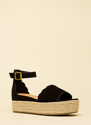 Cute Kid Faux Nubuck Platform Sandals