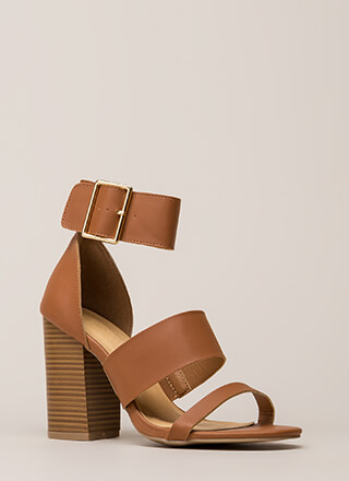 Step Right Up Chunky Strappy Heels
