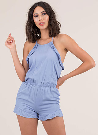 Can You Frill The Love Ruffled Romper