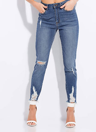 Feeling Distressed Denim Skinny Jeans