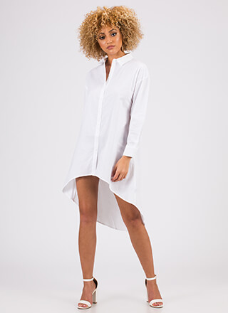 Flare For Menswear Button-Up Shirt Dress