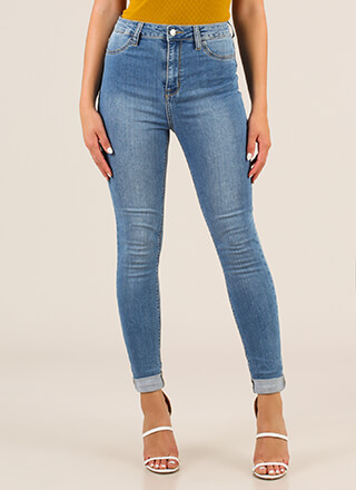 On The Daily High-Waisted Skinny Jeans