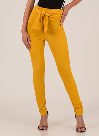 Great Legs Tie-Front Skinny Pants