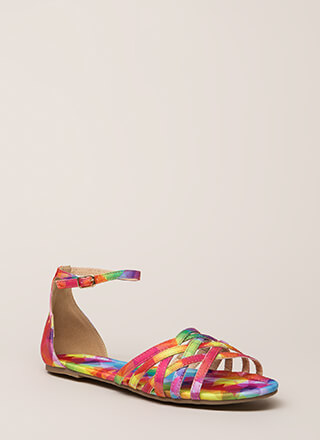 Strappy To Be Alive Ankle Strap Sandals