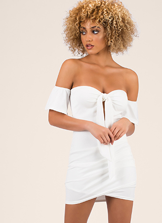 Big Date Tied Off-Shoulder Minidress