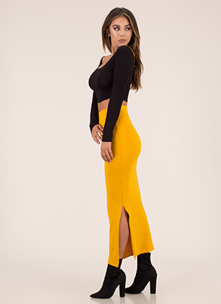 Curves For Days Slit Maxi Skirt