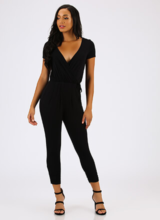 Front Runner Plunging Surplice Jumpsuit