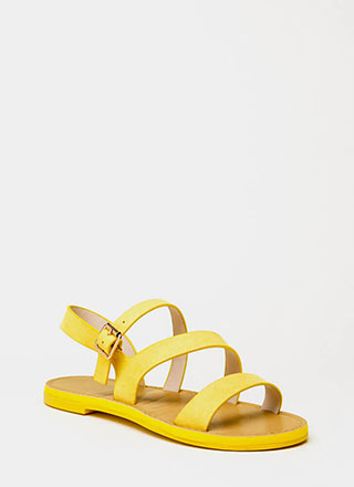 It's Fate Strappy Faux Suede Sandals