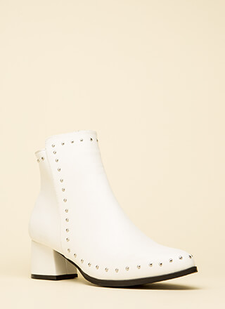 A Slight Edge Studded Block Booties
