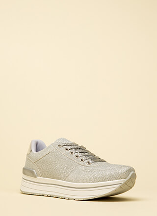 Go For The Glitter Platform Sneakers