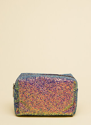Glittery Nights Sparkly Makeup Pouch
