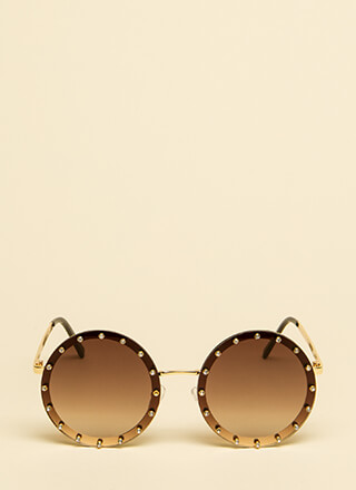 Superstar Sparkle Round Sunglasses