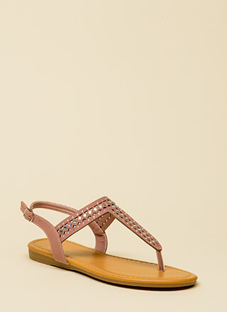 Treasured Jeweled T-Strap Sandals