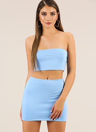 Perfect Match Tube Top And Skirt Set