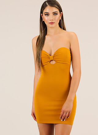 Bow-tiful Night Strapless Minidress