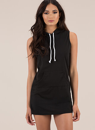 Keep Things Casual Hoodie Minidress