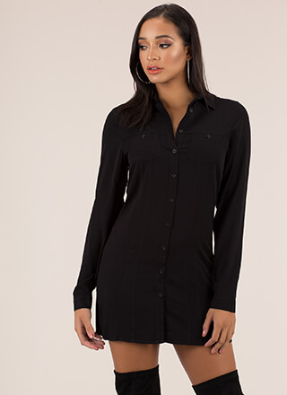 Shirt Off My Back Button-Up Minidress