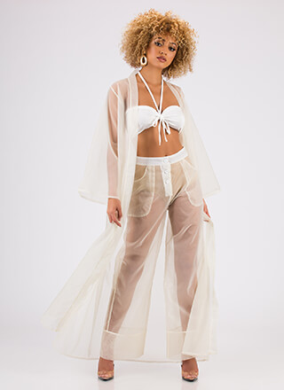 Sheer Style Three-Piece Duster Set