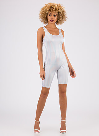 Steal The Sheen Leotard Romper