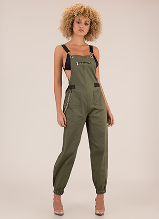Hot Hardware Chained Jogger Overalls