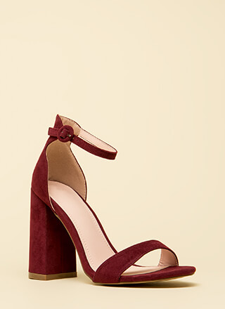 Mi Amor Chunky Ankle Strap Heels