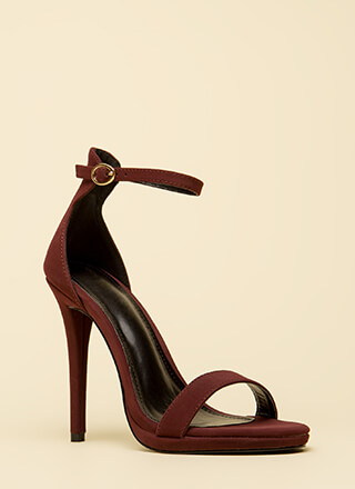 Stand And Deliver Ankle Strap Heels