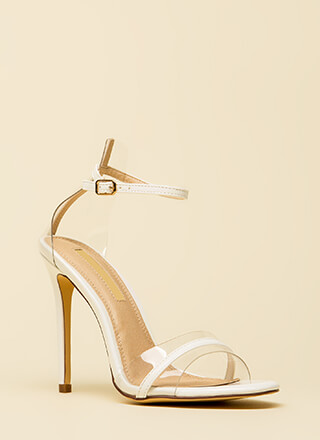 Clearly Exquisite Skinny Strap Heels