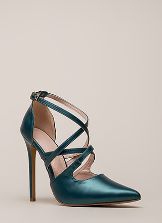 Apple Of My Eye Strappy Pointy Heels