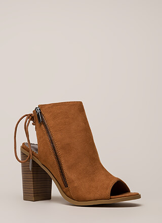 Great Adventure Chunky Lace-Back Booties