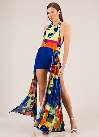 Face The Music Maxi Top And Shorts Set