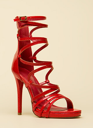 High And Mighty Strappy Caged Heels