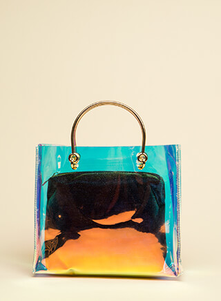 Clear As Day Holographic 2-Piece Tote