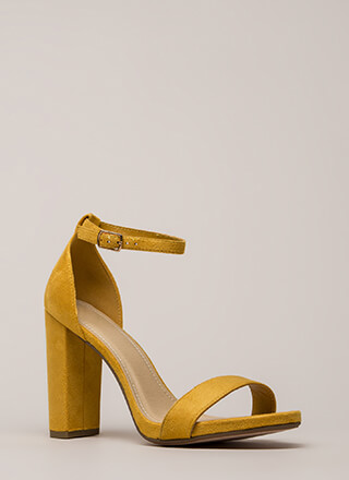 Walk This Way Chunky Ankle Strap Heels