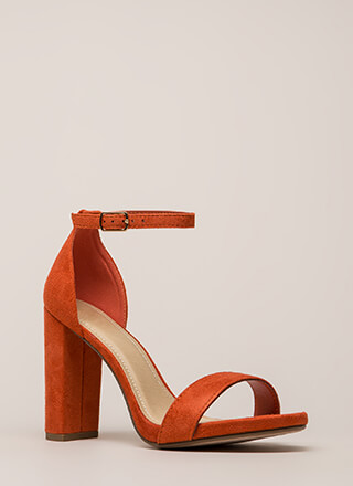 Come This Way Chunky Ankle Strap Heels