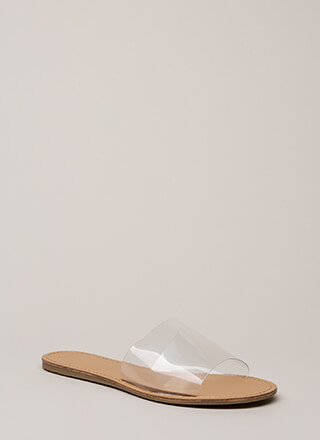 Clearly Minimalist Slide Sandals
