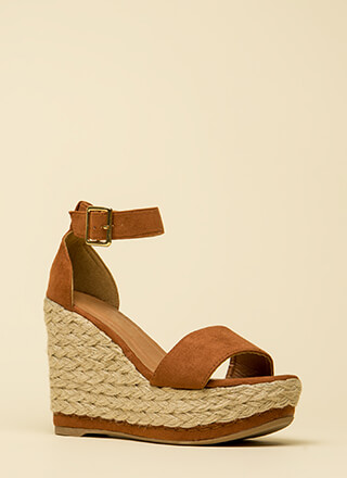 Twine And Dine Me Platform Wedges