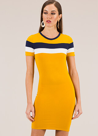 Take Me To School Sporty Striped Dress