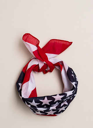 Stars And Stripes American Flag Scarf