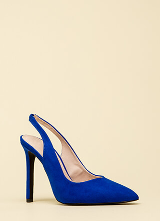 Step Right In Pointy Slingback Heels