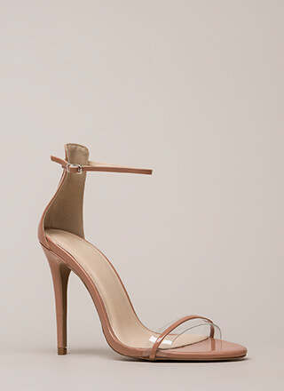 Clearly Gorgeous Skinny Strap Heels