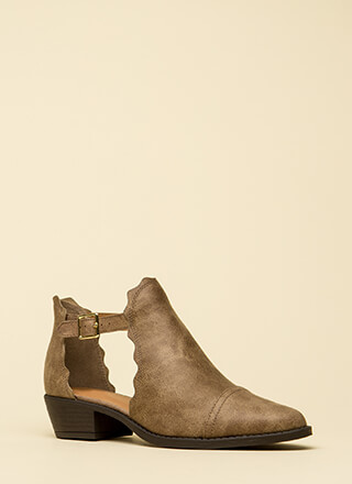 Wave Through A Window Strappy Booties