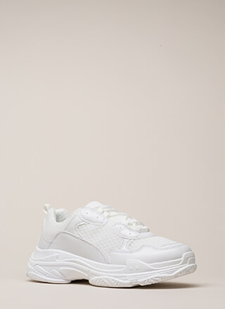Athletic Prowess Platform Sneakers
