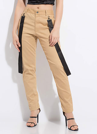 Strapped In The Closet Slim-Fit Trousers