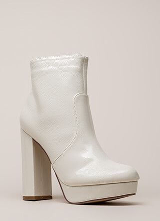 Disco Fever Chunky Platform Booties