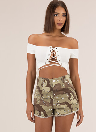 Military Grade Cut-Off Camo Shorts