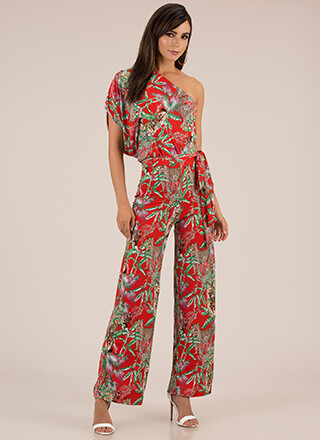 The Jungle Look Tropical Jumpsuit