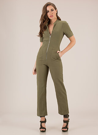 It Works For Me Zip-Front Jumpsuit