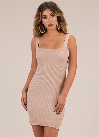 It's That Easy Rib Knit Minidress